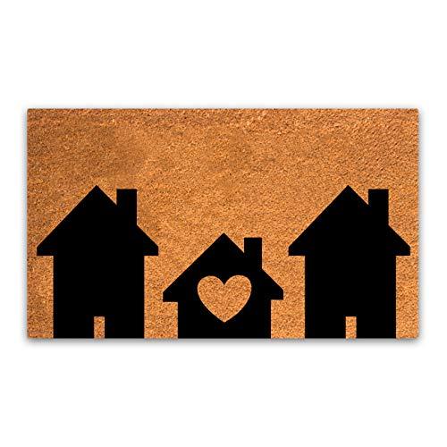 Plus Haven Fußmatte aus Reiner Kokosfaser mit strapazierfähiger PVC-Rückseite, naturfarben, Größe: 45,7 x 76,2 cm, Florhöhe: 1,5 cm, perfekte Farbe / Größe für den Innen- und Außenbereich.