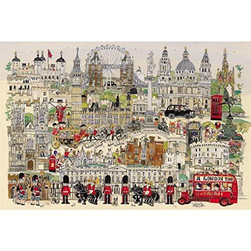GuDoQi Puzzle 1000 Piezas Adultos Rompecabezas Madera Tour de Londres para Infantiles Adolescentes