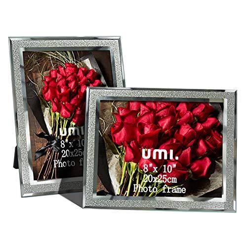 UMI. Essentials Marcos de Fotos de Cristal Brillante 20 x 25 cm, Juego de 2