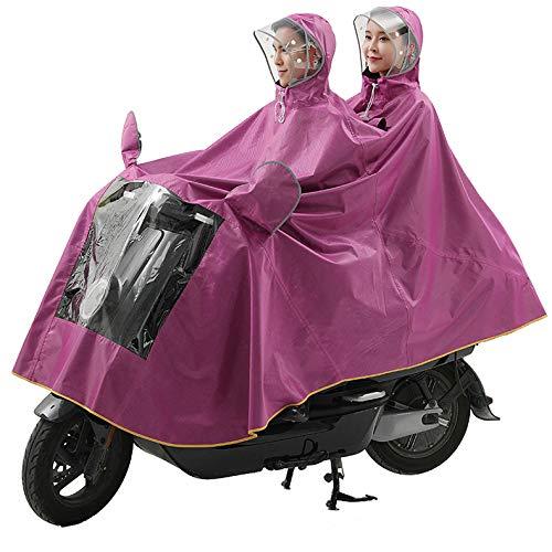 QINAIDI Poncho de Aumento de Engrosamiento de Doble Tapa contra la Lluvia de la Motocicleta eléctrica, Cubierta de máscara Desmontable, para Silla de Ruedas eléctrica, Bicicleta,4,XXXXL
