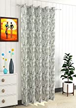 Fresh From Loom Cotton Curtain for Window 4 x 5 Feet, Single (1) Piece, Cotton Black Out 8 Steel Eyelet Grommets Rings Light Blacking Curtain - 1Pcs - Green
