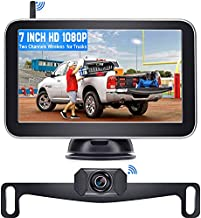 DoHonest V29 HD 1080P Digital Wireless Backup Camera 7'' Split Screen Monitor for Trucks,Cars,Campers,Vans, Observation System with Stable Signal,IP69 Waterproof,Super Night Vision,Guide Lines On/Off