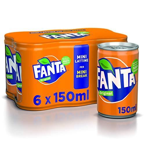 Fanta Original - Mini Lattine, pacco da 6 x 150 ml