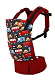 Baby Tula Multi-Position, Ergonomic Baby Carrier, Front and Back Carry for 15 – 45 pounds – Look for Helpers (Red and Dark Gray with Safety Vehicles)