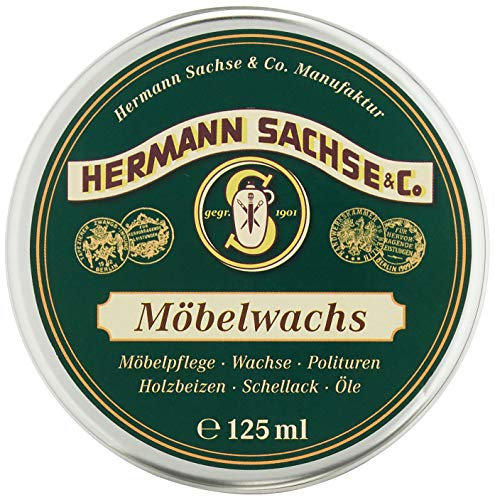 Cera para muebles | Hermann Sachse | incolora para madera | adecuada...