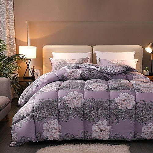 BDHBB Luxurious Goose Down Comforter King Size, 600+ Fill Power, 100% Polyester Shell Down,Goose Down Comforter Queen Size Duvet Insert, 200X230cm 4000G,3