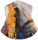 Yuanmeiju Retrato de caballos, unisex, polar, calentador de cuello, polaina, microfibra, máscara...