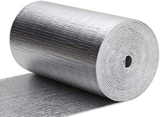 Thermal Aluminum Foil Foam Insulation- (2 Ft X 50 Ft Roll) Commercial Grade, Radiant Barrier, Garage Door Insulation Kit, Weatherproofing Roofs, Attics, Windows, RV's, Soundproofing, Noise Insulation