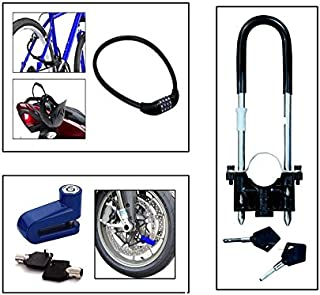 BuyBack® Bike Wheel Lock + Bike Disk Lock + 4 Digit Combination Lock