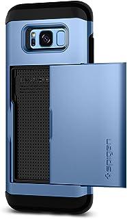 Spigen Samsung Galaxy S8 Slim Armor CS Card Slider, Blue Coral