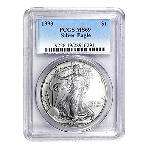 1993 American Silver Eagle ASE $1 MS-69 PCGS
