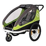 HAMAX Traveller Fahrradanhänger inkl. Fahrraddeichsel und Buggyrad Green/Grey 2021 Fahrrad-anhänger