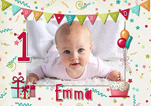 Tortenaufleger Tortenbild Geburtstag Kindergeburtstag Geschenk Luftballon Wunschtext Foto essbar Ø 20cm 239