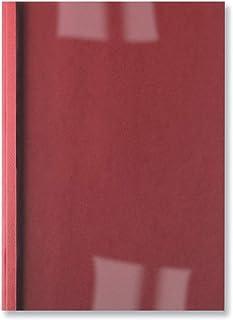 Acco GBC Lot de 100 couvertures thermiques de reliure A4 1,5 mm 250 g/m² Transparent/rouge