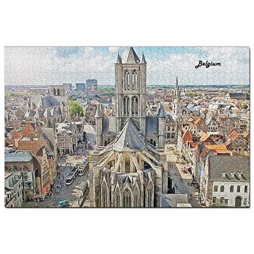 Bélgica Puzzle 1000 Piezas para Adultos Familia Rompecabezas Recuerdo Turismo Regalo