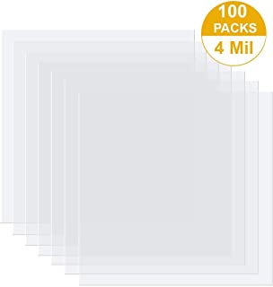 4 Mil 8-1/2 x 11 Inches PVC Binding Covers - Pack of 100, Clear Acetate Sheets, Plastic Sheet, Blank Stencil Material, Acetate Film Sheets, Face Shield Film, Mylar Template Sheets for Stencils