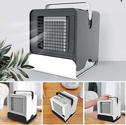 Elvoo Móvil Personal del acondicionador de aire del ventilador, mini portátil ventilador de escritorio USB Ion negativo del ventilador de tabla del refrigerador de aire del humidificador purificador r