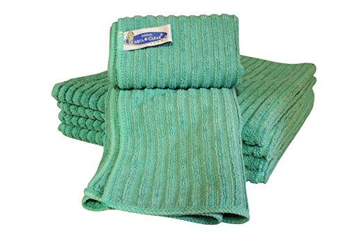 Aqua Clean Microfaser Bodentuch mit Hochtief Struktur 5er Set (grün)