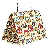 XINL Hamaca para Mascotas, Limpieza de Camas Colgantes para pájaros para Primavera Verano(Owl, Large)