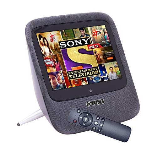 Duluck Clazio Show, 2K touch Screen, Portable, battery-powered, WiFi android tablet cum mini TV cum entertainment hub. Built-in both Ok-Google plus Alexa. Perfect for personal viewing Netflix, Prime, Hotstar, YouTube with 10W hi-fidelity sound. Video calling like Zoom, meet, etc. Control smart home IoT devices with Touch & Voice.