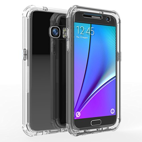 joylink Water Resistant Shock Absorption Dual Layer TPU Rubber Cover Case with Armor Bumper Symmetry Defender Envoy Series Compatible with Samsung Galaxy S7- Clear