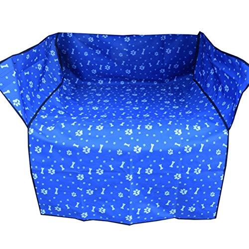 POPETPOP Tapis de Coffre pour Animal Domestique avec Couverture arrière pour Voiture Bleu Bleu 155x105x35cm