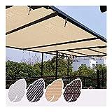 Sombra de Malla Solar, Bloqueador Solar Tela de Sombra Borde Grabado con Ojales Shade Net Cover, for Piscina Pérgola Jardín Balcón, 4 Colores ALGFree (Color : Beige, Size : 3x3m)