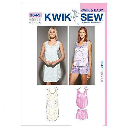 Kwik Sew Damen-Schnittmuster 3645 Nachtwäsche Nachthemd & Schlafanzug