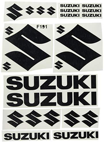Ecoshirt 1H-Z5Y1-OV19 - Pegatinas Suzuki F191, Negro