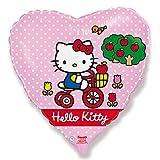 Hello Kitty con bicicleta Globo Corazón Forma Ballongas 45cm