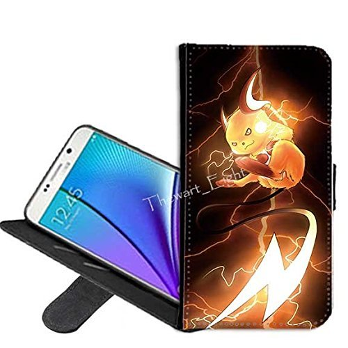 Case for Samsung Galaxy S8 Plus, Pikachu Pokemon PU Leather Folio Flip Stand Wallet Case Cover with ID Credit Card Holder(#001)