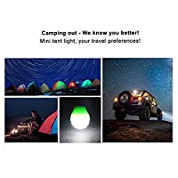 SumDirect 4Pcs LED Camping Lamp Tent Lights, Waterproof Portable Bulb, for Hurricane Emergency ,Home, Fishing, Camping…