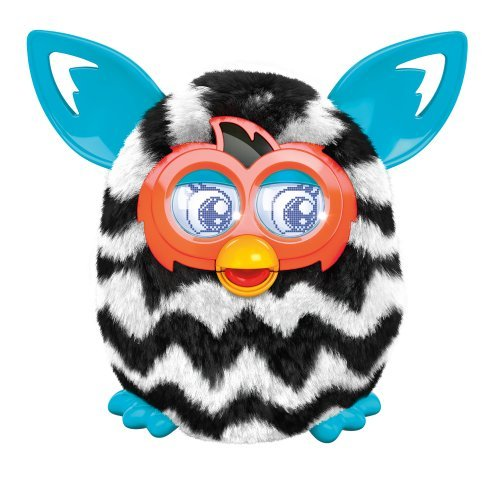 Furby Boom Sweet Electronic Plush Black and White Zigzag