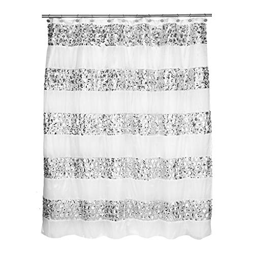 Popular Bath Shower Curtain, Sinatra Collection, White