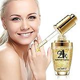 24K Gold Collagène, l'acide hyaluronique et vitamines A E D Gel puissant anti-âge anti-rides visage Facial Eye cou et crème pour le corps réduit les rides, sacs, Saggy Skin & Yeux gonflés