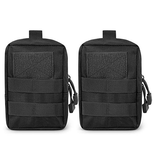 Gogoku Molle Pouch 2 Packs Tactical Molle Pouches Compact Utility EDC Waist Bag Pack