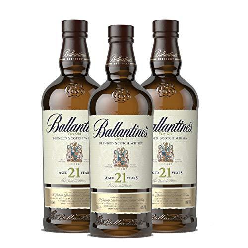 Ballantines 21 años Blended Scotch - Juego de Whisky (3 Unidades, Alcohol, 40%, 3 x 700 ml)
