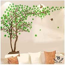 Kayra Decor Tree of Life Plastic Sheet Reusable Wall Stencil (Multicolour, 72x94-inch)