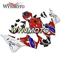 WYNMOTOエクステリアパーツは CBR1000RR 2017 2018 2019 2020に適合したフェアリングキットに適合 ABSプラスチックボディワークボディカウルフィットcbr1000rr 17 18 19 20スポーツバイク用 -赤と白と青と黒版