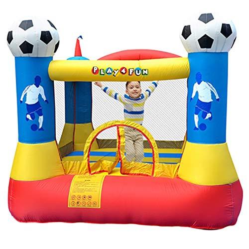PLAY4FUN Castillo Hinchable: Football Aréna Castle - Superficie 225x220x195cm- inflador y Mochila