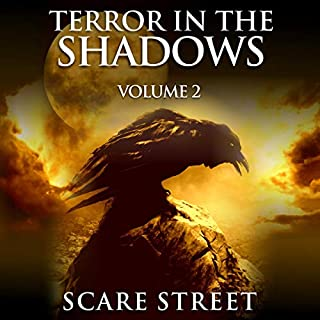 Terror in the Shadows, Volume 2     Scary Ghosts, Paranormal & Supernatural Horror Short Stories Collection              By:                                                                                                                                 Scare Street,                                                                                        Ron Ripley,                                                                                        David Longhorn,                   and others                          Narrated by:                                                                                                                                 Thom Bowers                      Length: 6 hrs and 25 mins     8 ratings     Overall 4.9