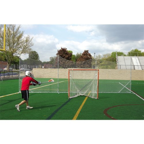 Brine Deluxe Lacrosse Backstop, No Stakes Needed-Can Go on Turf Fields (10 x 30-Feet)