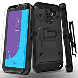 Samsung Galaxy J8 2018 Case, with [Tempered Glass Screen...