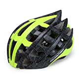 OUTHOME Adult Bicycle/Skateboard Helmets, Men's and Women's Road and Mountain Travel Helmets, Light Adjustable,Green,L(57-62cm)