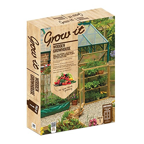 Grow It Gardman Wooden House, Brown, 57 x 76 x 110 cm