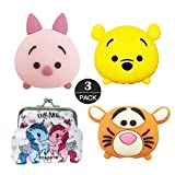 ZOEAST(TM) 3pcs Good Friend Yellow Bear Tiger Pig Animal Protector USB Charger Saver Charging Data Earphone Line Compatible with All iPhone iPad iPod Most Android (Piglet Bear Tigger)