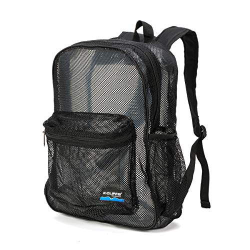 Heavy Duty Classic Student Mesh Backpack | Padded Straps | Black