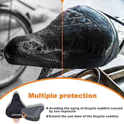 Sportout 2x bicycle saddle rain cover waterproof bicycle (Upgrade-2 Pack)