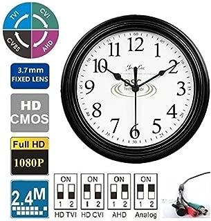 4-in-1 HD 1080P Wall Clock Hidden Camera 2.4MP 3.7mm Pin Hole Lens, BNC 12VDC