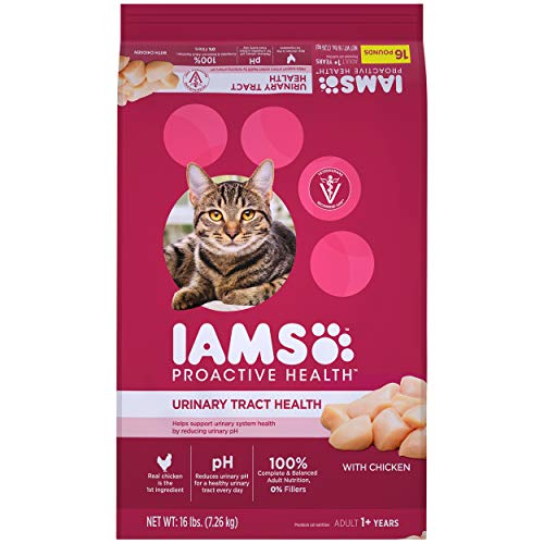 IAMS PROACTIVE HEALTH Adult Urinary Tract Health Dry Cat Food with Chicken, 16 lb. Bag